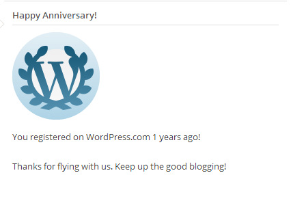 Happy Wordiversary